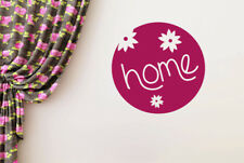 Home Schild Three Cute Flowers Vinilo Pegatinas De Pared Adhesivo Decoración