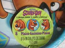 "8 Scooby -Doo! 6 3/4"" 3 Designs Paper Plates Birthday Party Express Hallmark Dog"