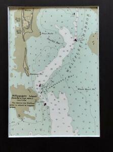 CAPE COD Wellfleet Harbor 1989 Vintage Nautical Map Sailing Chart Matted Print