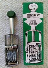 Vtg Garvey Price Marker Model S 180 5 Band Supreme King Size Unused In Orig Box