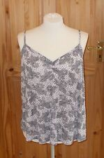 DOROTHY PERKINS white black floral camisole vest summer holiday top 18 46 BNWT
