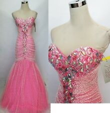 NWT RIVA DESIGNS R9566 Barbie Pink $478 Ball Prom Gown 2