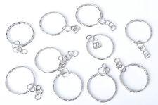 10X Keyring Blanks Silver Key Chains Findings 3 Split Rings -{Buy 3 Get 3 Free}-