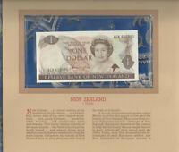 Most Treasured Banknotes New Zealand 1981-85 1 Dollar  UNC P 169a  Prefix ACK