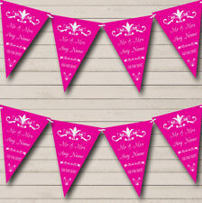 RegalFuchsia Personalized Engagement Party Bunting Flag Banner