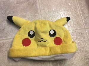 Pikachu Pokémon beanie hat cap one size NEW