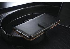 ECHT Leder Handyhülle Tasche Samsung Galaxy Note 8 Hülle - Schwarz (4SC)