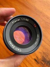 [MINT] Contax Carl Zeiss Planar T* 50mm F/1.7 Prime Lens