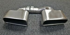 Porsche Genuine Cayenne E3 Tailpipes Standard Exhaust Tips 3.0 Petrol Tail Pipes