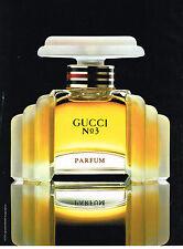 PUBLICITE ADVERTISING  1992   GUCCI   parfum N°3                          271213