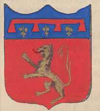 1865 Stemma di Poggibonsi (araldica civica), Siena litografia