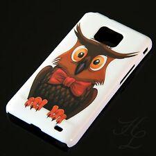 Samsung Galaxy S2 i9100 Hard Handy Case Schutz Hülle Etui Eule Schleife Owl