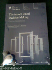 Art of Critical Decision Making DVD - NEW- Teaching Company / Great Courses