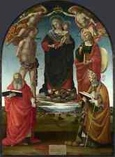 Luca Signorelli The Virgin And Child With Saints A4 Print