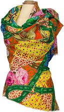 Sommer Schal Baumwolle Seide  Floral Digitataldruck Summer scarf cotton  silk
