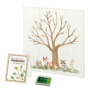 woodland baby shower party guest book alternative woodland animal theme
