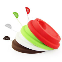 New 5pc/Set 9cm Eco-friendly Reusable Silicone Coffee Milk Cup Mug Lid Cover