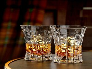 Whiskey Glasses Set of 2, Scotch, Bourbon or Whisky glasses - Luxury Gift Boxed