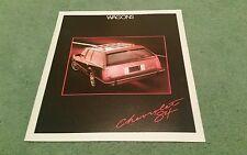 1984 CHEVROLET WAGONS Cavalier Caprice Blazer Suburban Sportvan USA BROCHURE