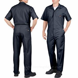 Dickies Mens Coveralls Short Sleeve Big & Tall Comfort Elastic Waist Work New