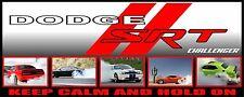 """24"""" X 60"""" PRINTED  DODGE CHALLENGER SRT  BANNER - HOT ROD CAR"""