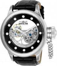 Invicta 24593 52mm Russian Diver Ghost Automatic Skeletonized Leather Mens Watch
