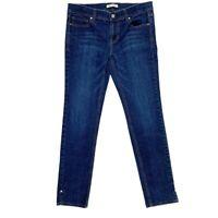White House Black Market Women Jeans, Noir Skinny Leg Dark Denim, Size 6