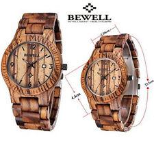Wood Watch Wristwatch Bewell Wooden Men's Quartz Wrist Watch Gift watches