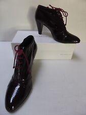 Derbys talons 38/39 tout cuir verni bordeaux COSMOPARIS leather shoes