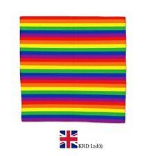 RAINBOW STRIPES BANDANA Bandanna Headwear Pride LGBT Hair Band Scarf Neck Wrist
