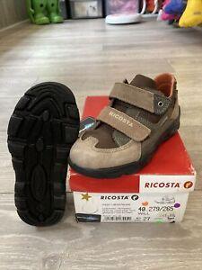 Boys Brown Ricosta Waterproof Shoes Uk Size 9 Euro 27