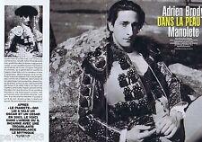 COUPURE DE PRESSE CLIPPING 2006 Adrien Brody (6 pages) ds la peau de  Manolete