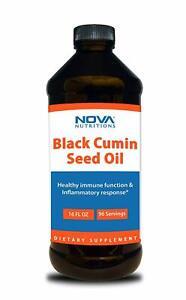 Nova Nutritions Cold Pressed Black Cumin Seed Oil 16 OZ - Non-GMO Black Seed Oil