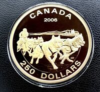 2006 Canada 250 Dollar Gold - Worldwide Mintage of only 900! -  Dog Sled