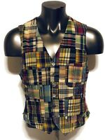 Polo Ralph Lauren patchwork quilt madras vest, size Medium