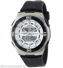 Casio AQ164W-7A Mens White Full Lcd Analog Digital Sports Watch 100M Dual Time