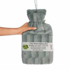 Premium Wärmflasche 2 Liter kuschliger Bezug Wärmeflasche Überbezug TÜV getestet