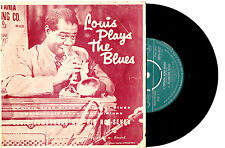"""LOUIS ARMSTRONG & HOT SEVEN - LOUIS PLAYS THE BLUES - EP 7""""45 RECORD PICSLV 1958"""