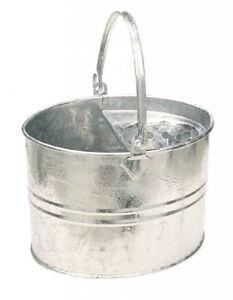 SupaHome Galvanised Mop Bucket2 Gallon Household Essential Metal Steel