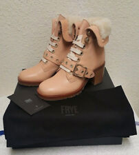 New $648 Frye Kay Natural Leather Shearling Lace Women's Bootie (Size: 7M)