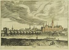 DRESDEN - Gesamtansicht - Hendrick van Cleve - Kupferstich um 1560