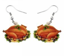 Festive Turkey Day Thanksgiving Food Earrings- New W/ Tags Great Gift