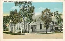 Florida, Fl, Winterhaven, First Christian Church 1920's Postcard