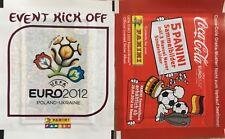 2 BUSTINE PANINI EURO 2012 COCA COLA MANUEL NEUER + EVENT KICK OFF. NUOVE DA BOX
