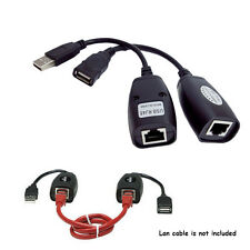 150FT USB2.0 to CAT5 CAT5E Cat 5e6e RJ45 LAN Extender Extension Adapter Cable oz