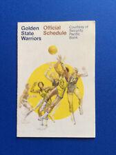 1976-77 Golden State Warriors Official NBA Basketball Schedule Original VTG