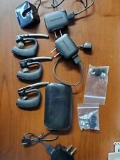 Plantronics Voyager Legend Lot- 3 headsets,3 chargers, charging case, ear pieces