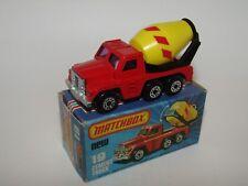 Matchbox Superfast No 19 Cement Truck Lemon Barrel PURPLE Glass Rare VNMIB