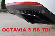 TDI RS245 Endrohre Auspuffblende BLACK (L+R) -original- SKODA OCTAVIA 3 (5E) RS