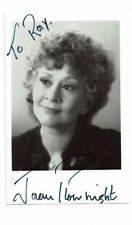 Joan Plowright Theatre & TV & Film Actress  Hand Signed Photograph  5 x 3